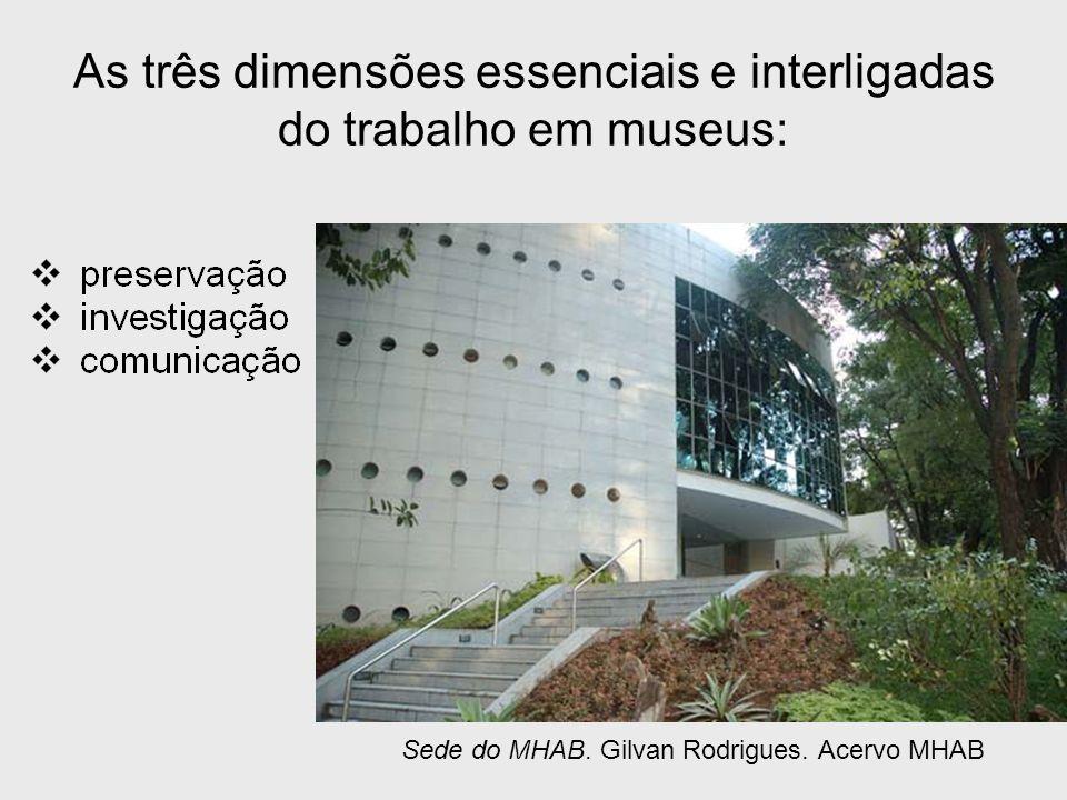As três dimensões essenciais e interligadas do trabalho em museus: