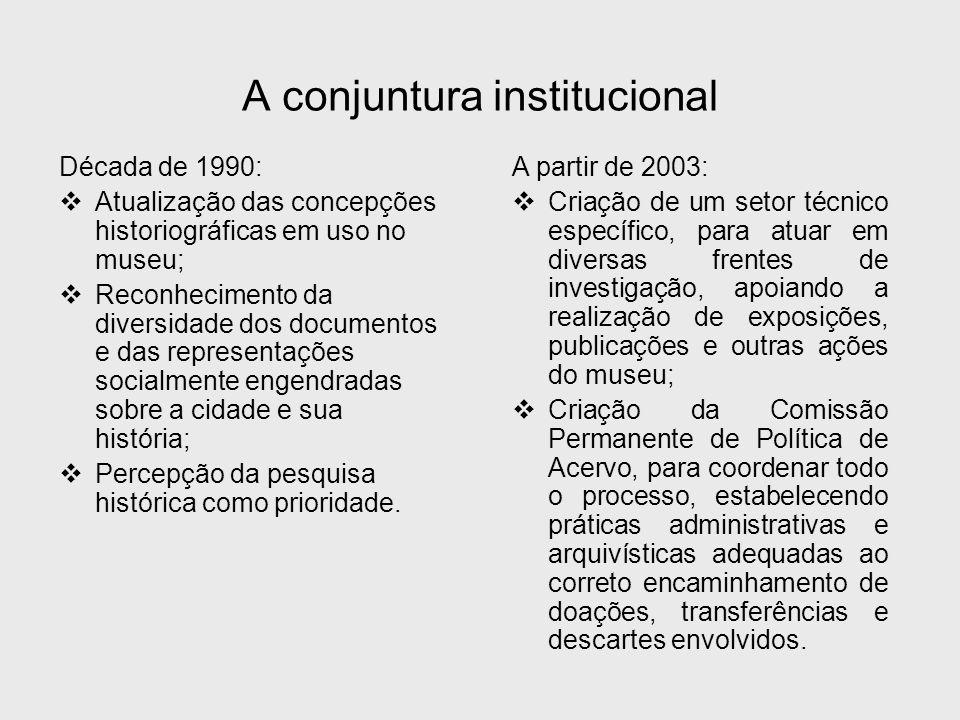 A conjuntura institucional
