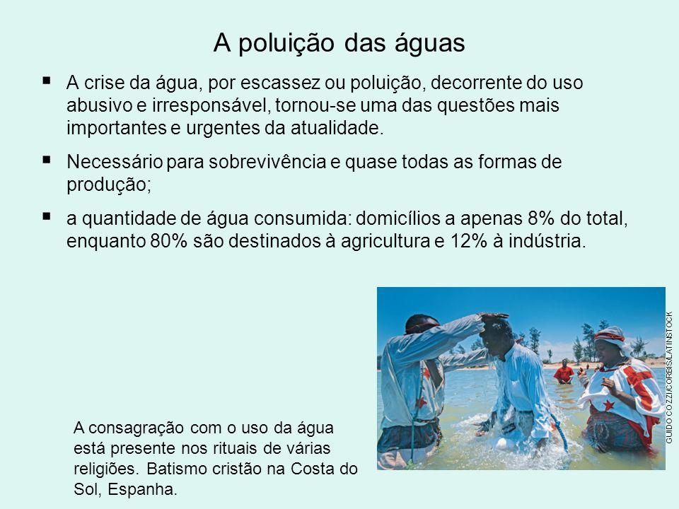 A poluição das águas