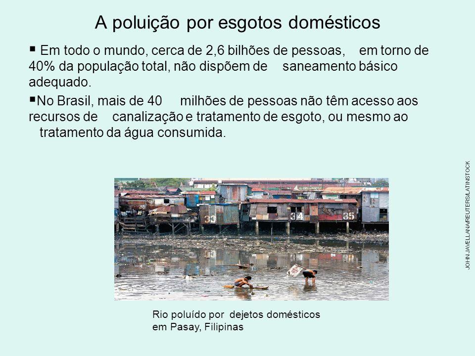 A poluição por esgotos domésticos