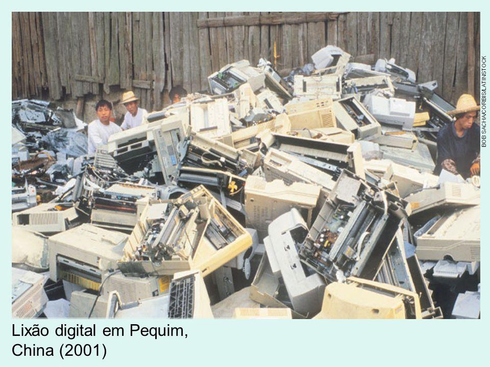 Lixão digital em Pequim, China (2001)