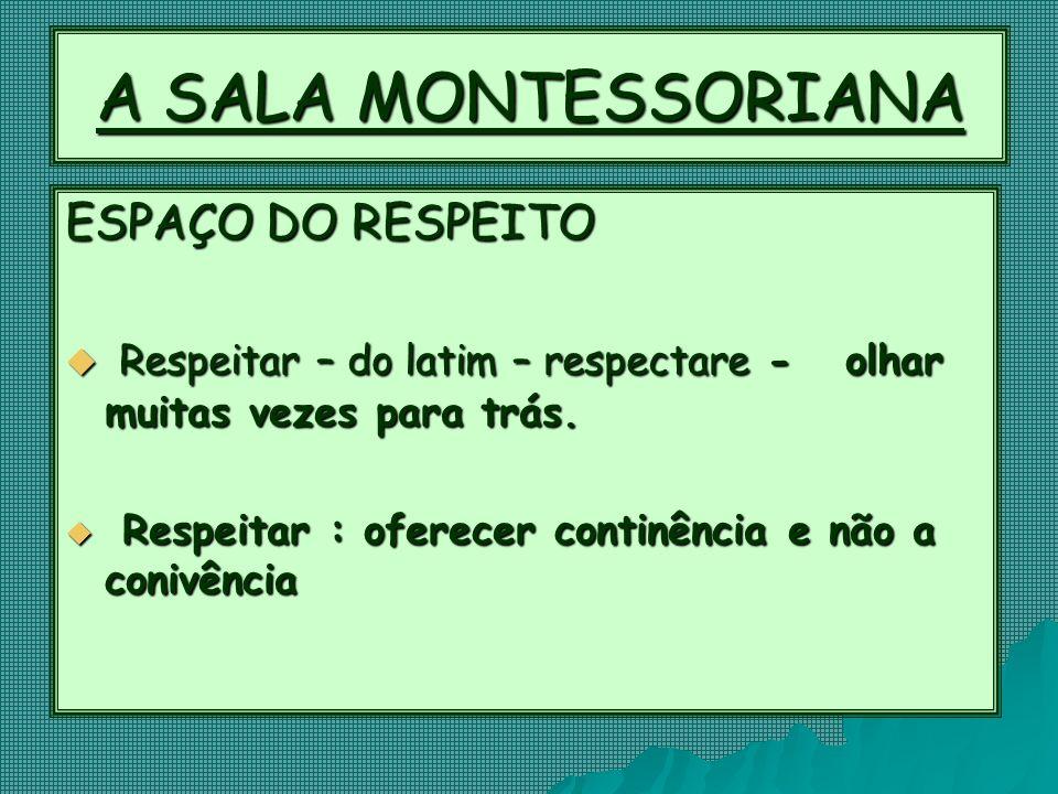 A SALA MONTESSORIANA ESPAÇO DO RESPEITO