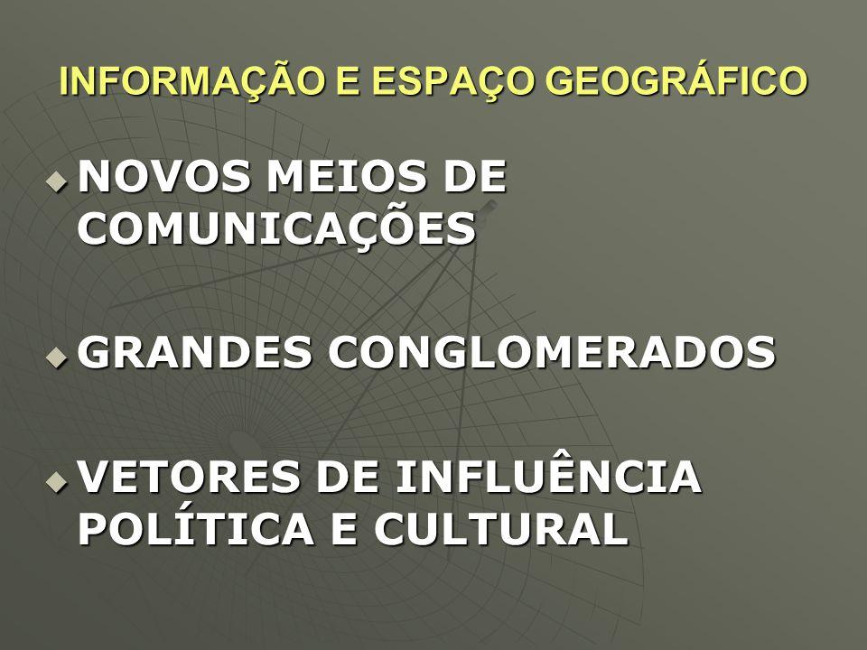 INFORMAÇÃO E ESPAÇO GEOGRÁFICO