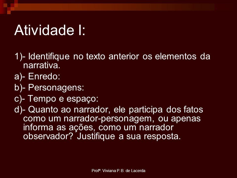 Profª. Viviana P. B. de Lacerda