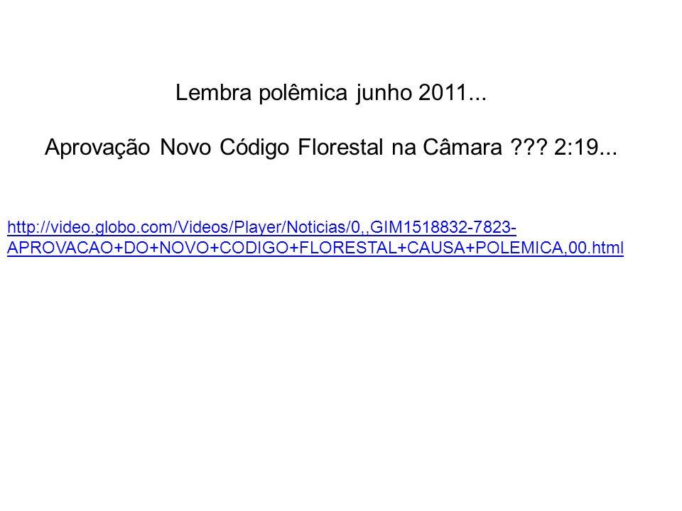 Aprovação Novo Código Florestal na Câmara 2:19...