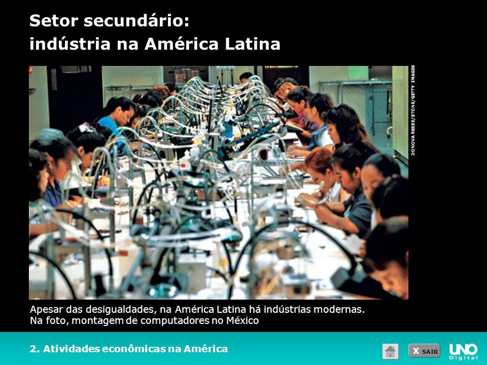 Setor secundário: indústria na América Latina