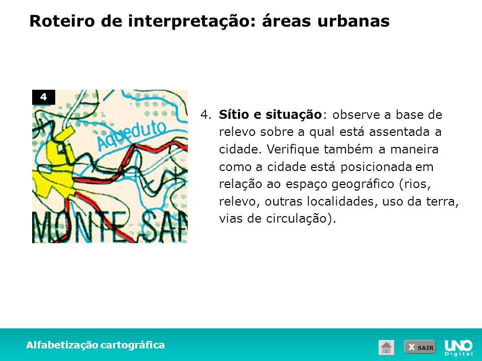 Roteiro de interpretação: áreas urbanas