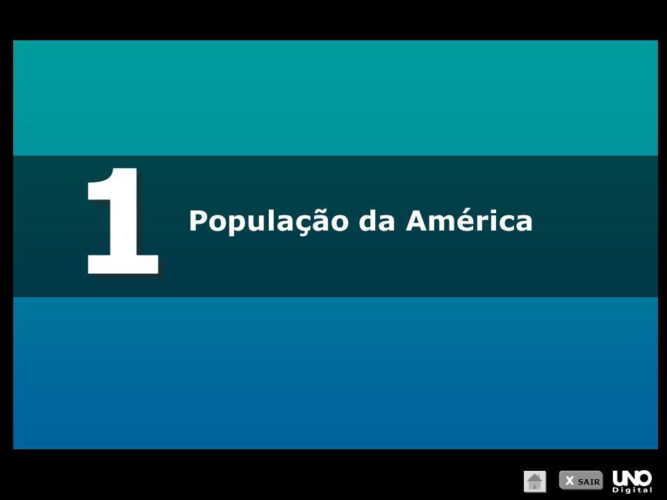 1 População da América X SAIR