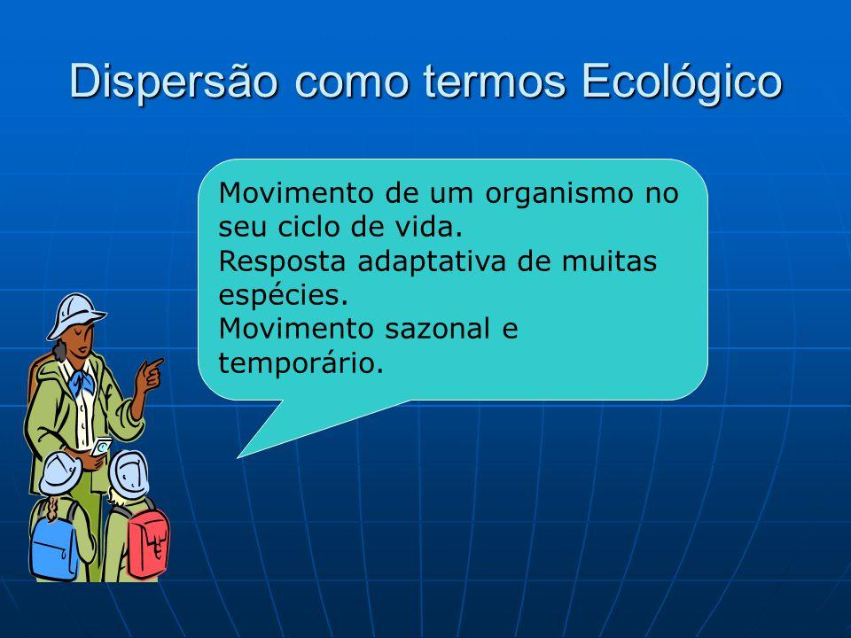Dispersão como termos Ecológico