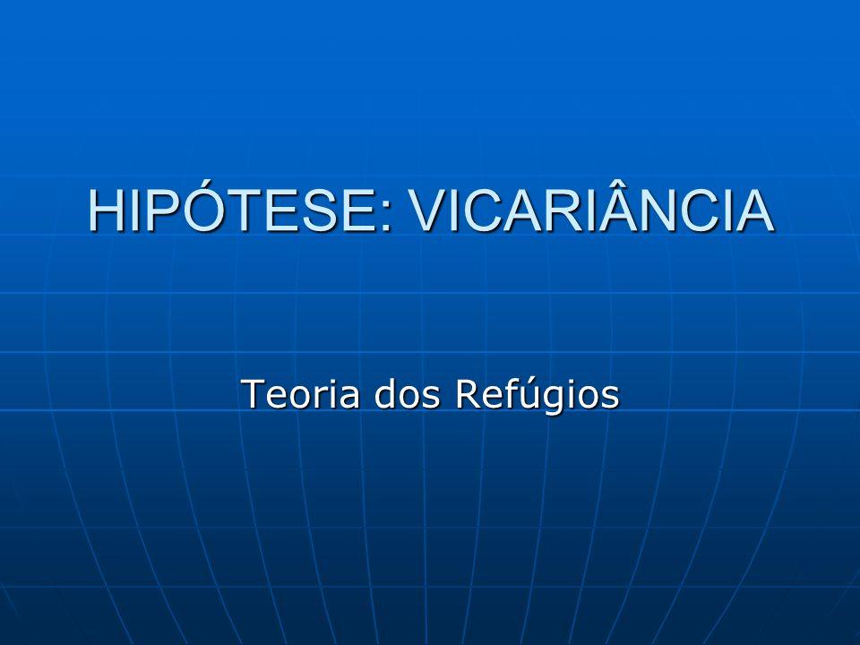 HIPÓTESE: VICARIÂNCIA