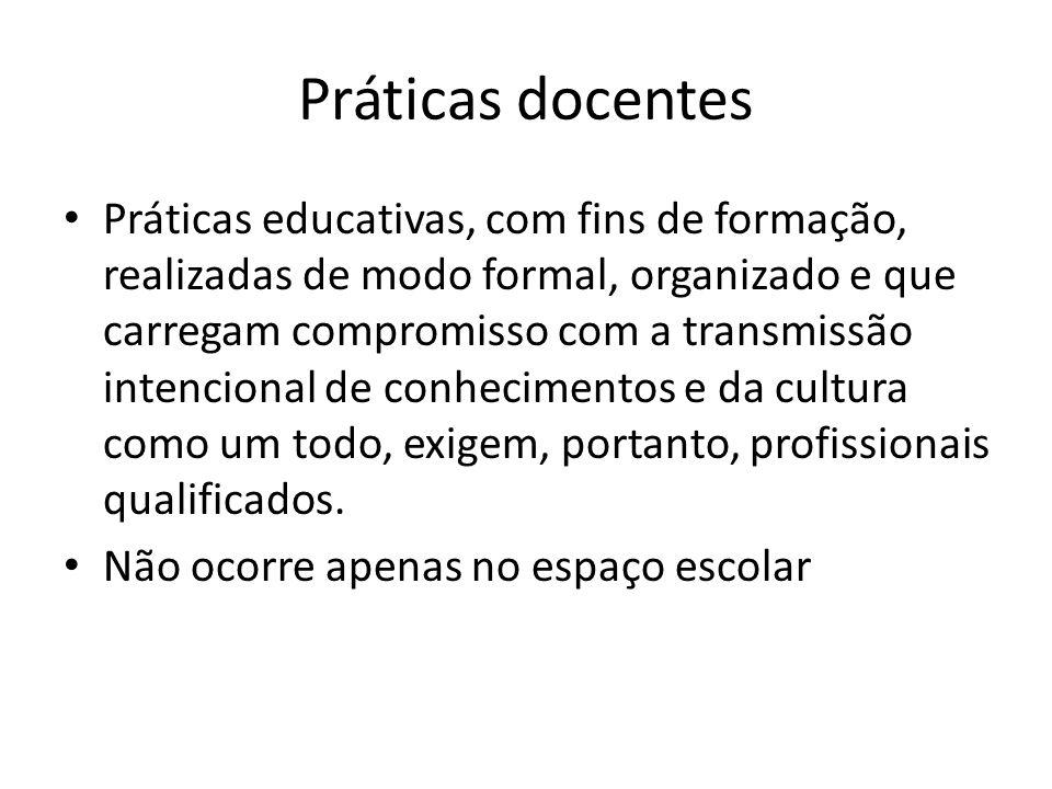 Práticas docentes