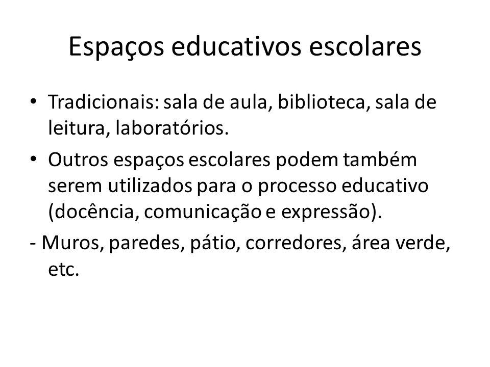 Espaços educativos escolares