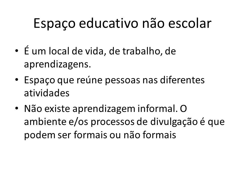 Espaço educativo não escolar