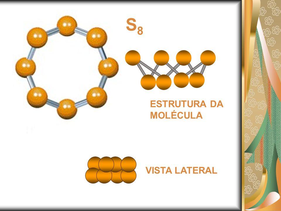 S8 ESTRUTURA DA MOLÉCULA VISTA LATERAL