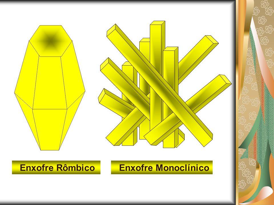 Enxofre Rômbico Enxofre Monoclínico