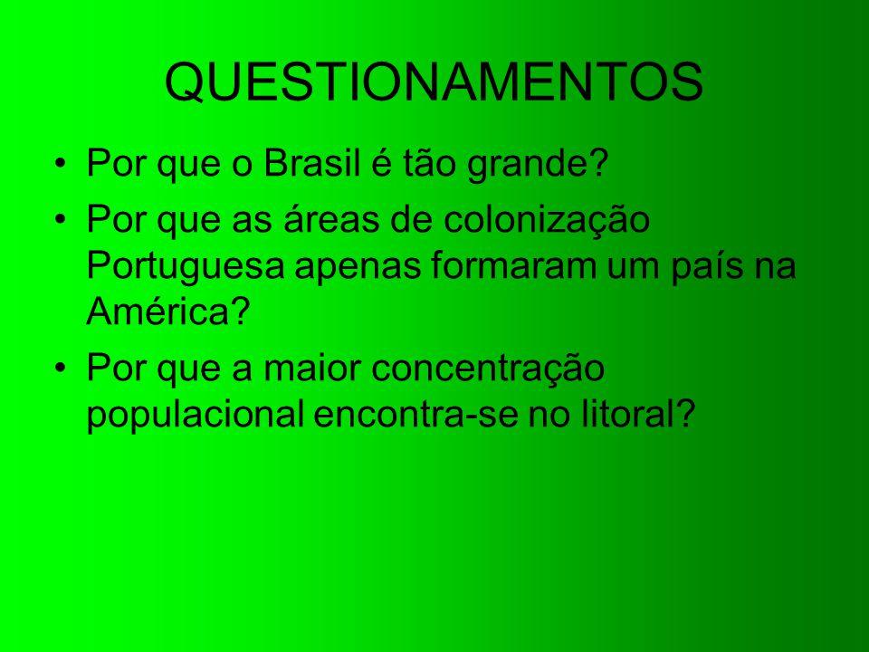QUESTIONAMENTOS Por que o Brasil é tão grande