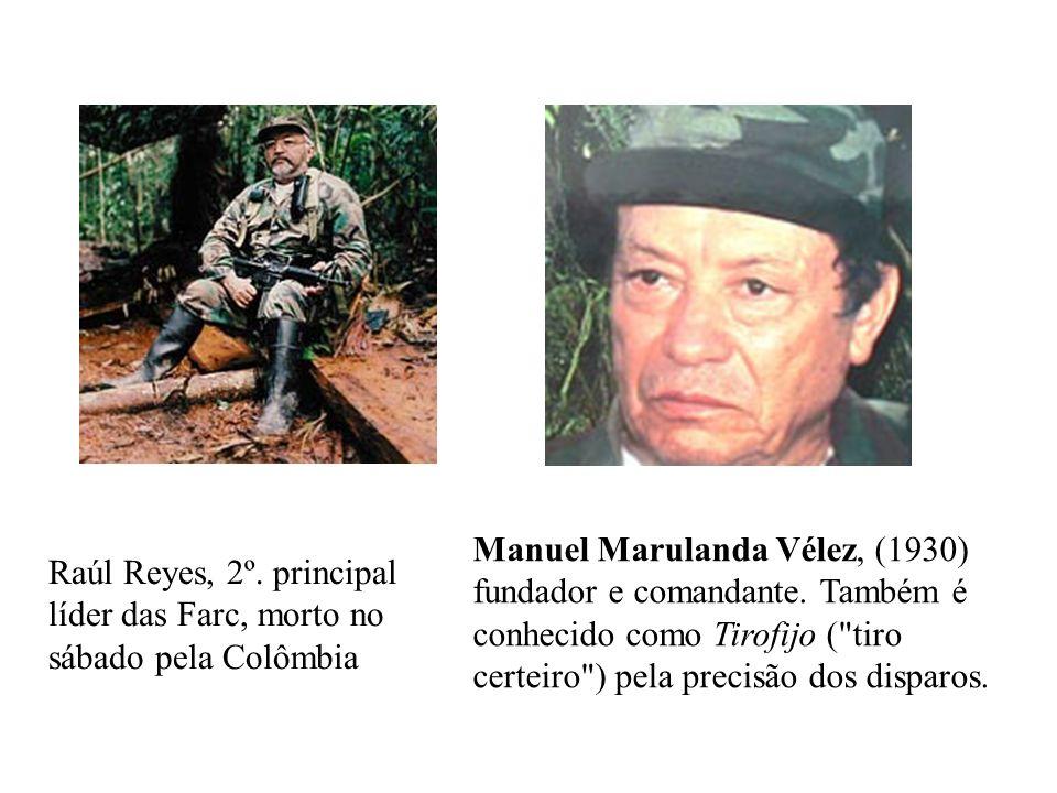 Manuel Marulanda Vélez, (1930) fundador e comandante