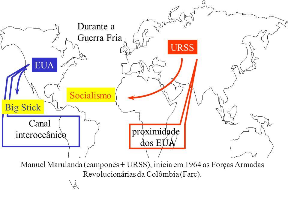 Durante a Guerra Fria URSS EUA Socialismo Big Stick Canal
