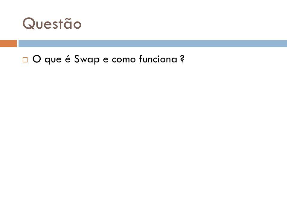 Questão O que é Swap e como funciona