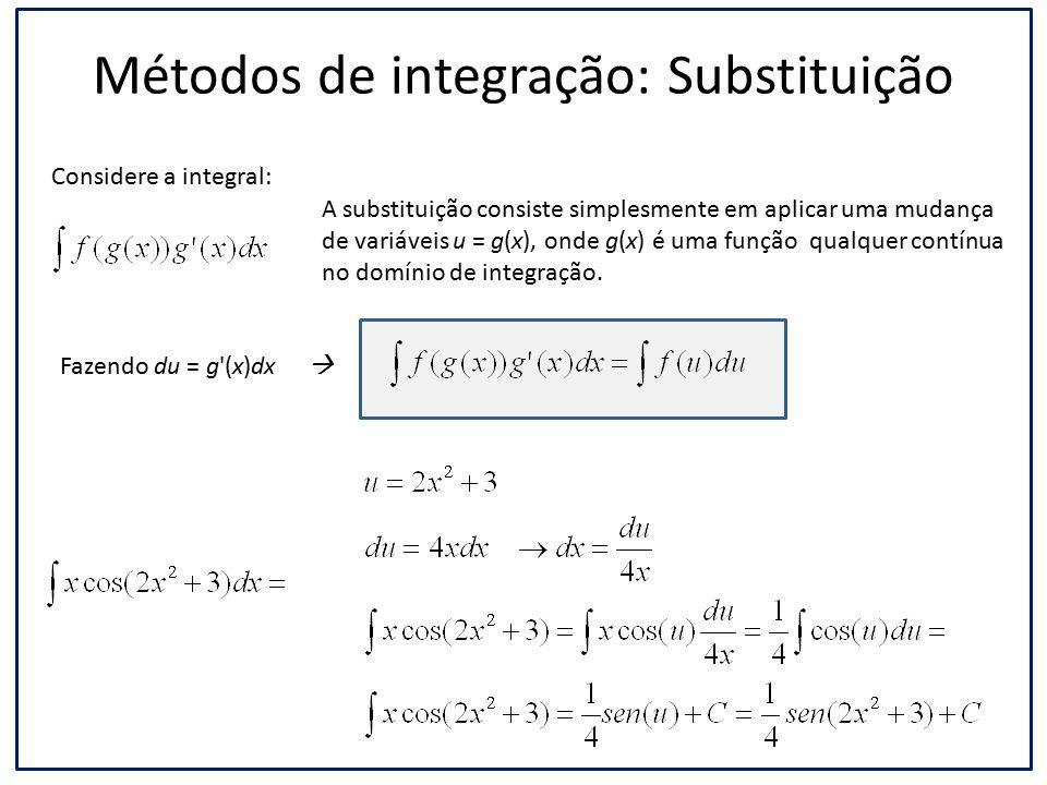 Métodos de integração: Substituição