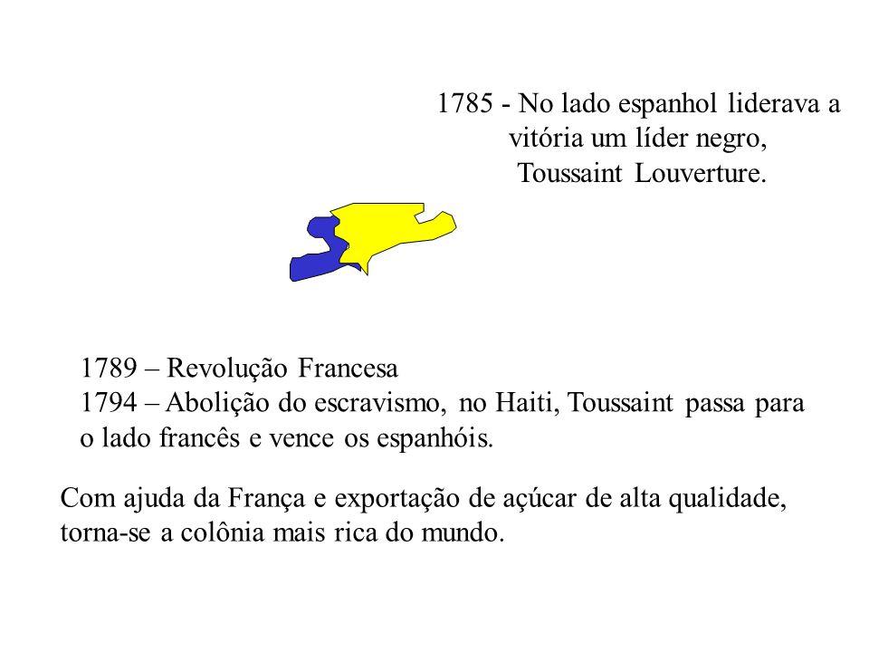 1785 - No lado espanhol liderava a