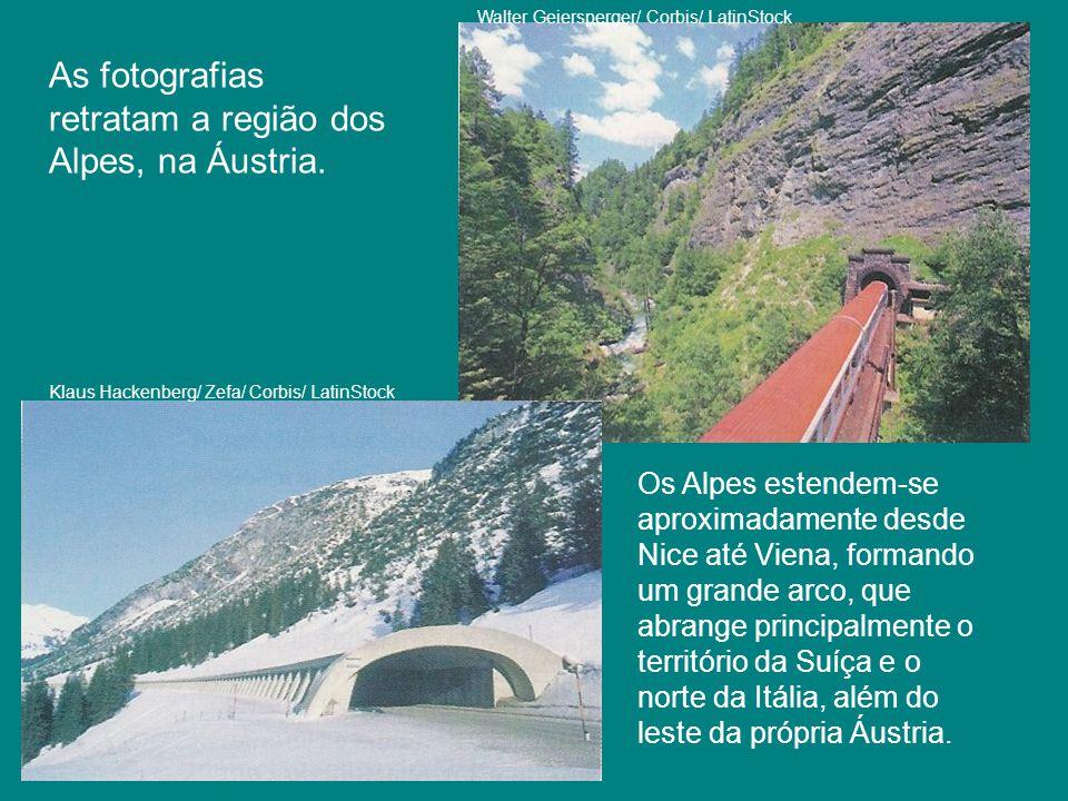 As fotografias retratam a região dos Alpes, na Áustria.