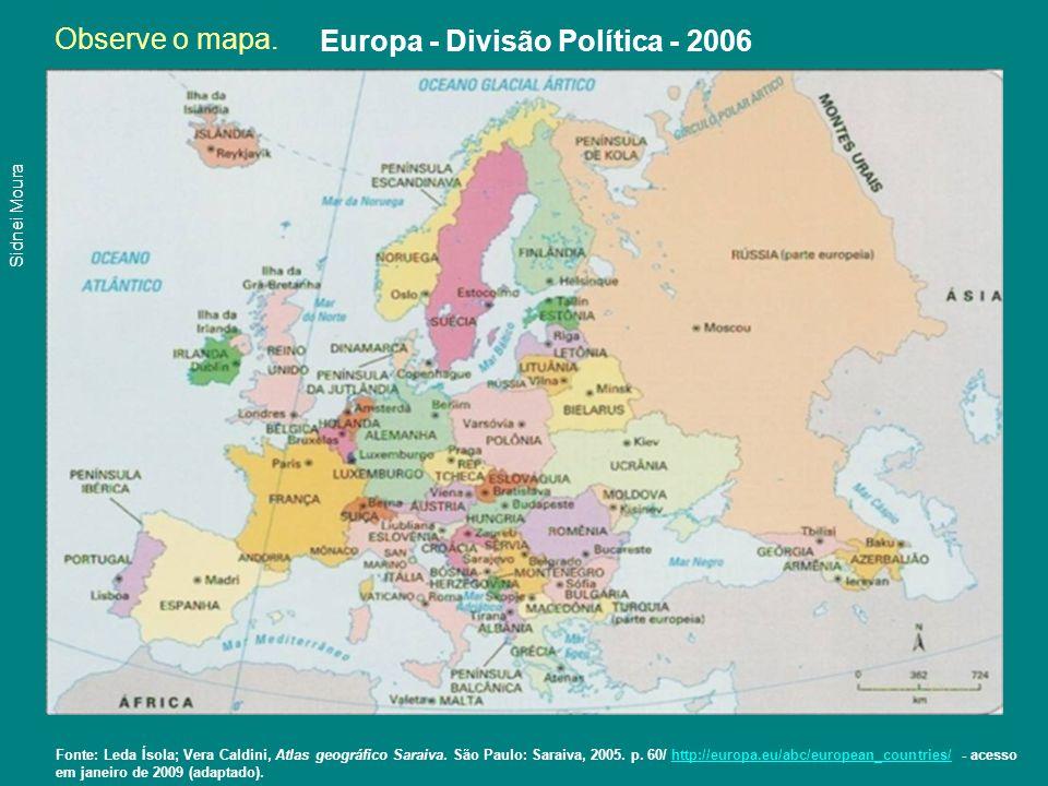 Europa - Divisão Política - 2006