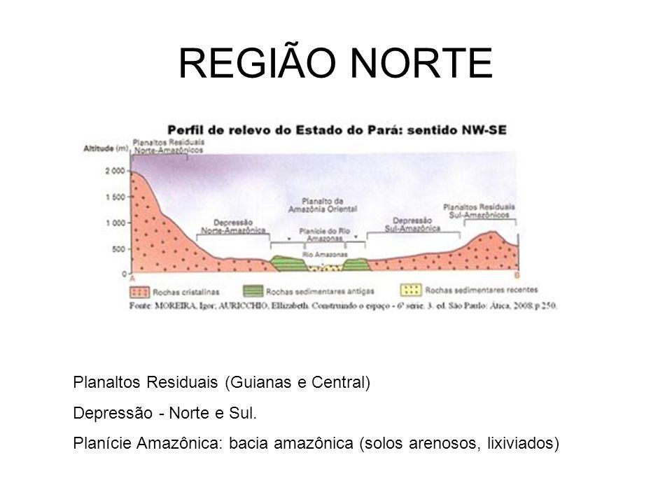 REGIÃO NORTE Planaltos Residuais (Guianas e Central)