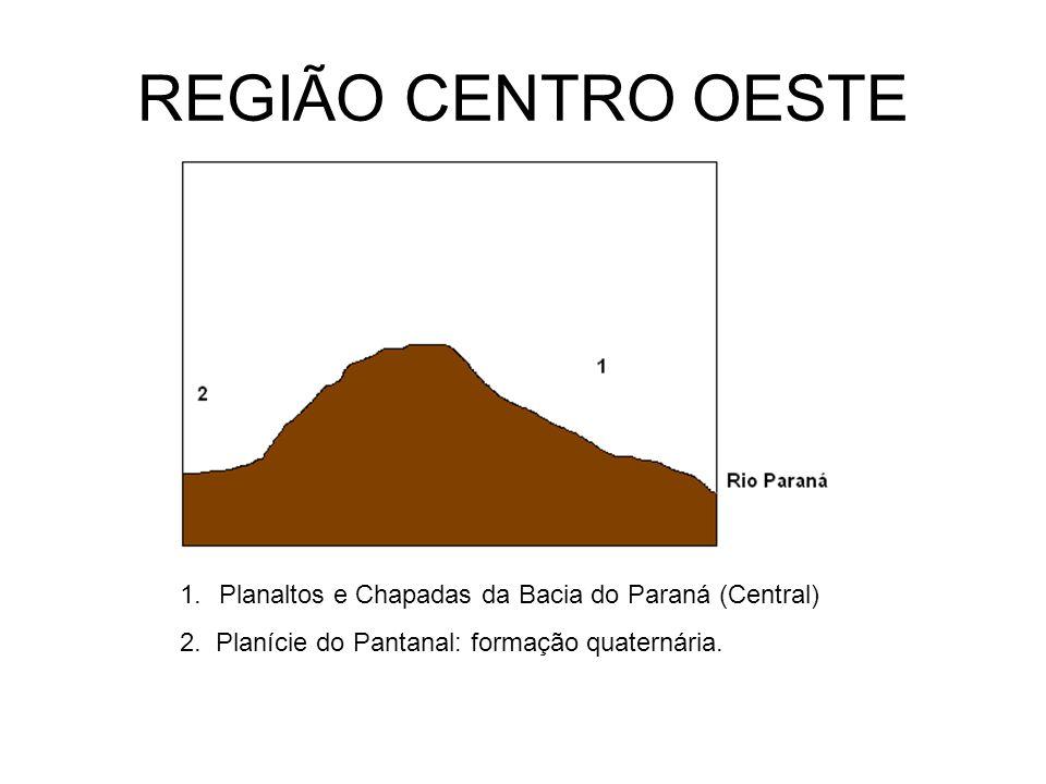 REGIÃO CENTRO OESTE Planaltos e Chapadas da Bacia do Paraná (Central)