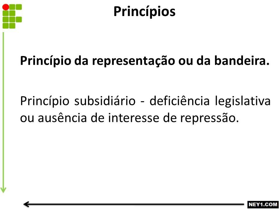 Princípios Princípio da representação ou da bandeira.