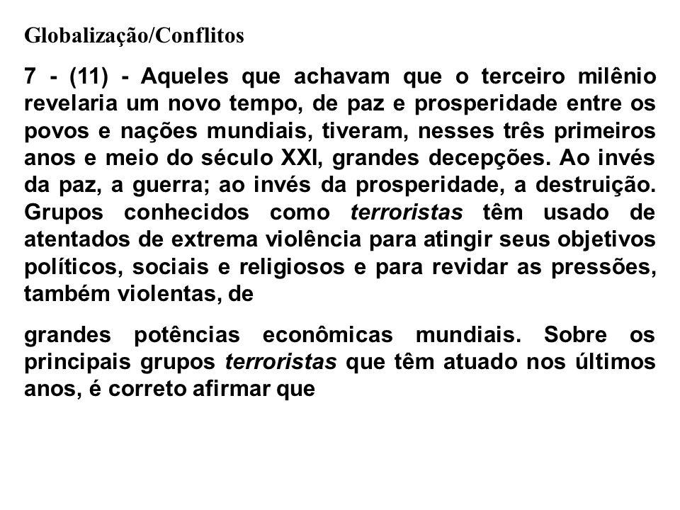 Globalização/Conflitos