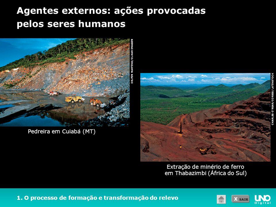 Extração de minério de ferro em Thabazimbi (África do Sul)