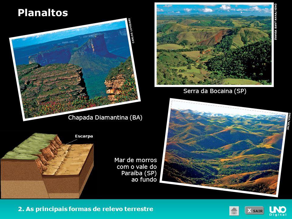Planaltos Serra da Bocaina (SP) Chapada Diamantina (BA)
