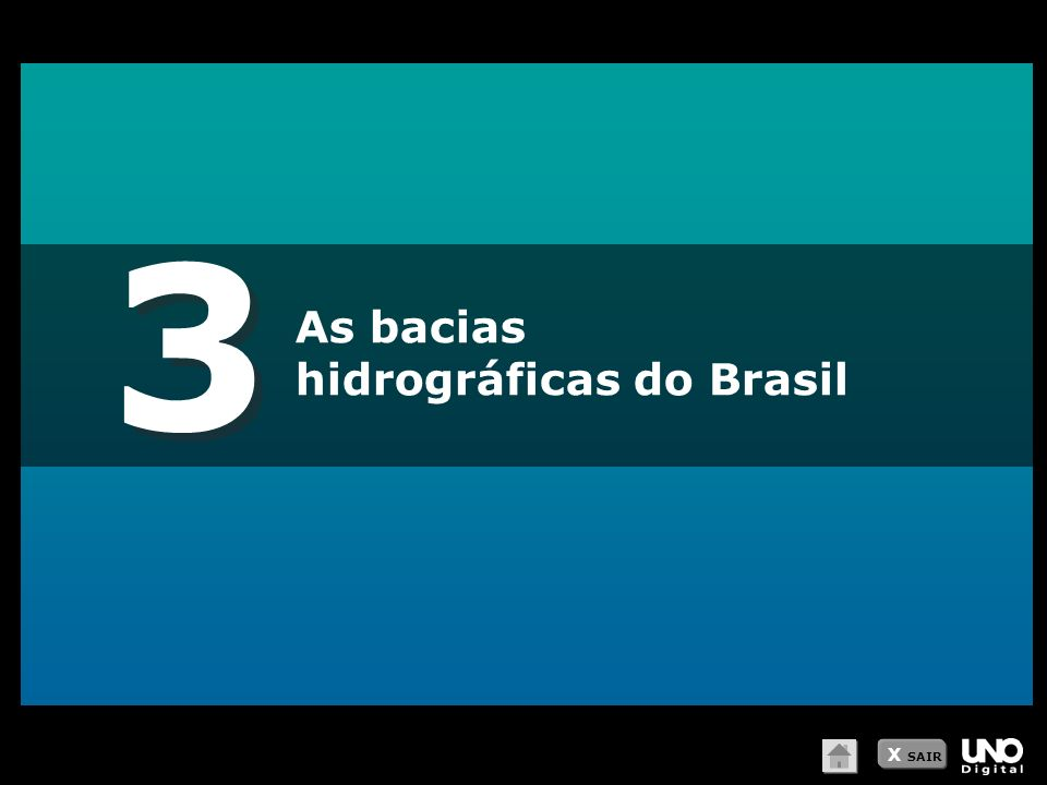 3 As bacias hidrográficas do Brasil X SAIR