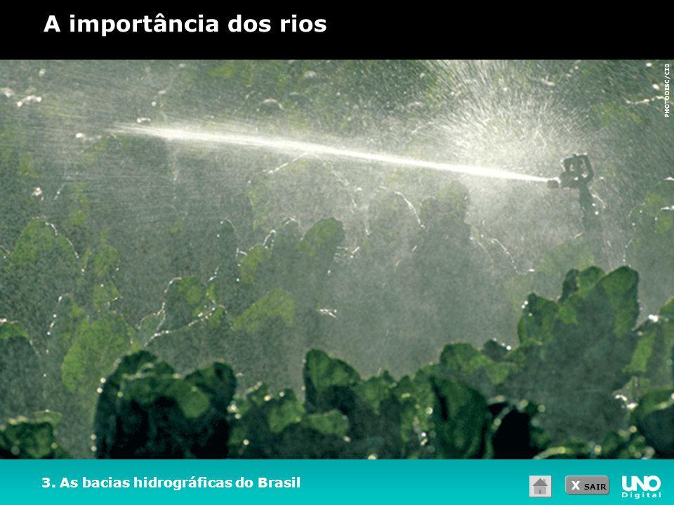 A importância dos rios 3. As bacias hidrográficas do Brasil