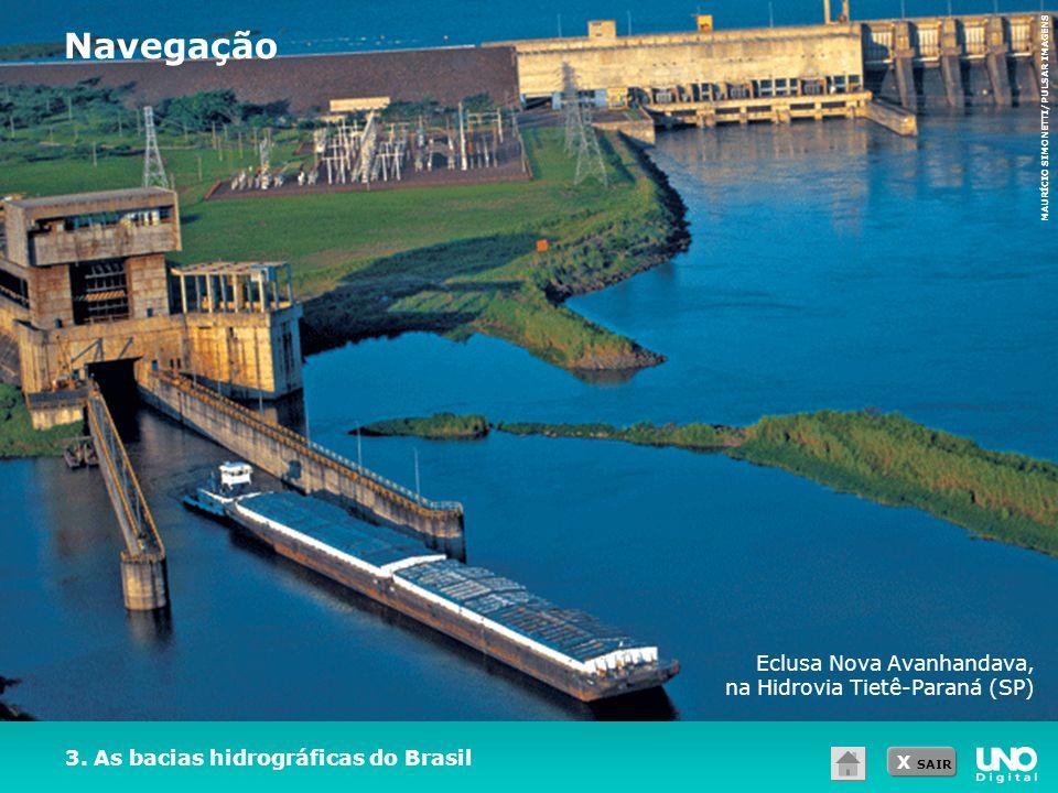 Navegação Eclusa Nova Avanhandava, na Hidrovia Tietê-Paraná (SP)