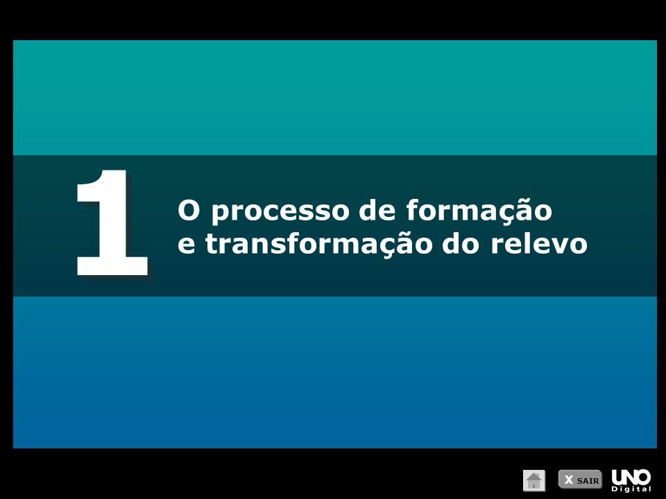 1 O processo de formação e transformação do relevo X SAIR