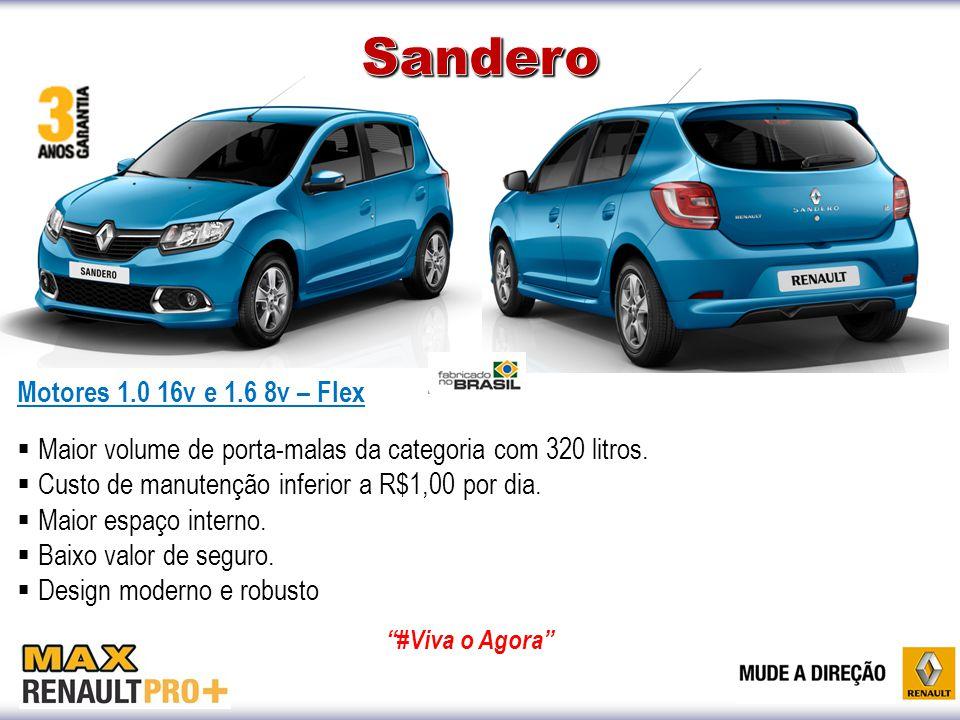 Sandero Motores 1.0 16v e 1.6 8v – Flex