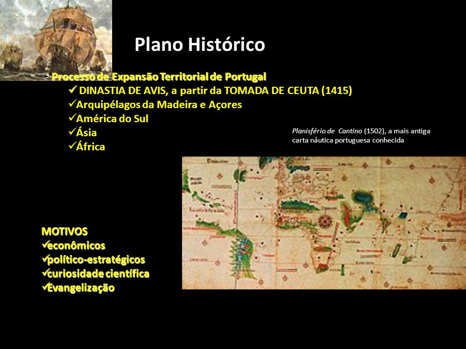 Plano Histórico Processo de Expansão Territorial de Portugal