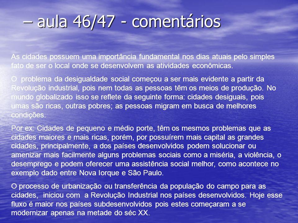 – aula 46/47 - comentários