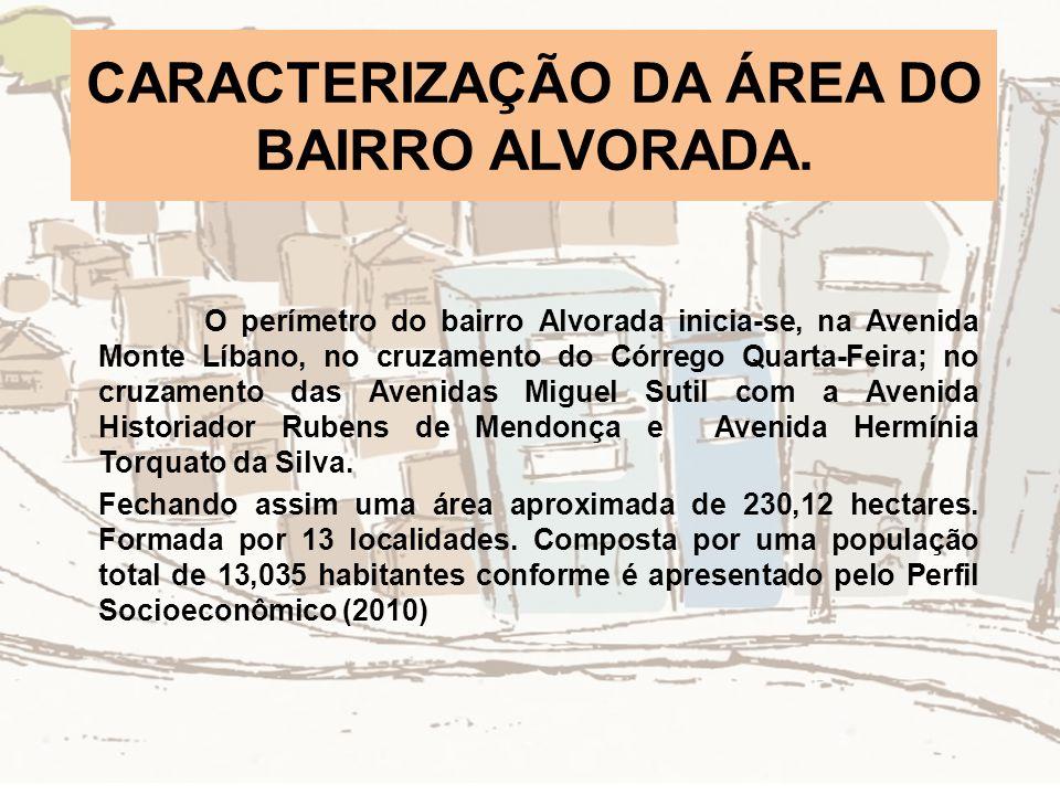 CARACTERIZAÇÃO DA ÁREA DO BAIRRO ALVORADA.