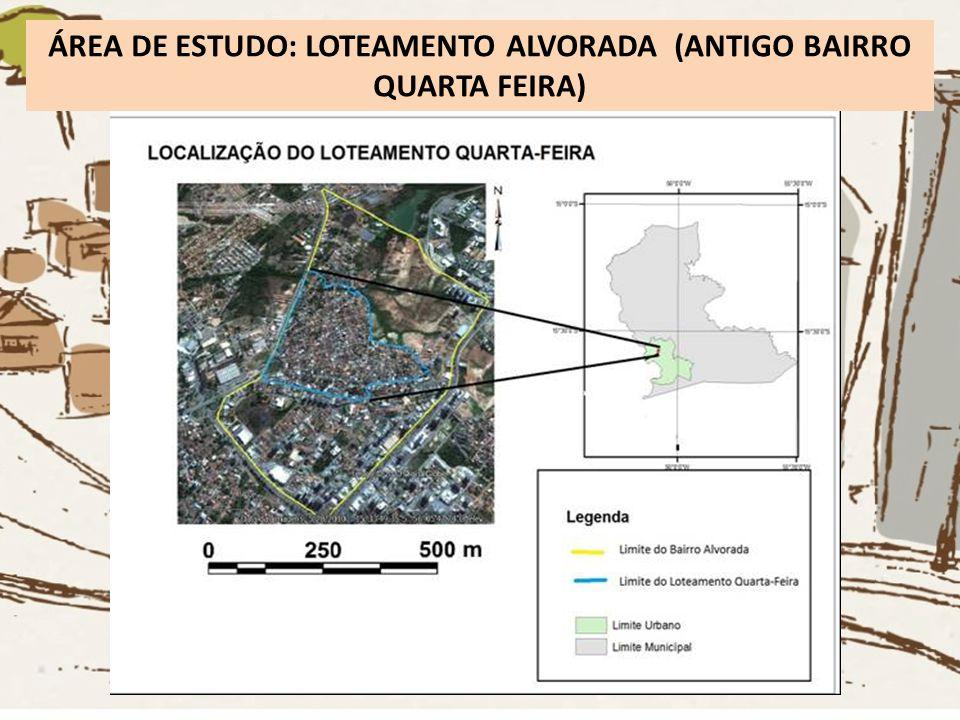 ÁREA DE ESTUDO: LOTEAMENTO ALVORADA (ANTIGO BAIRRO QUARTA FEIRA)