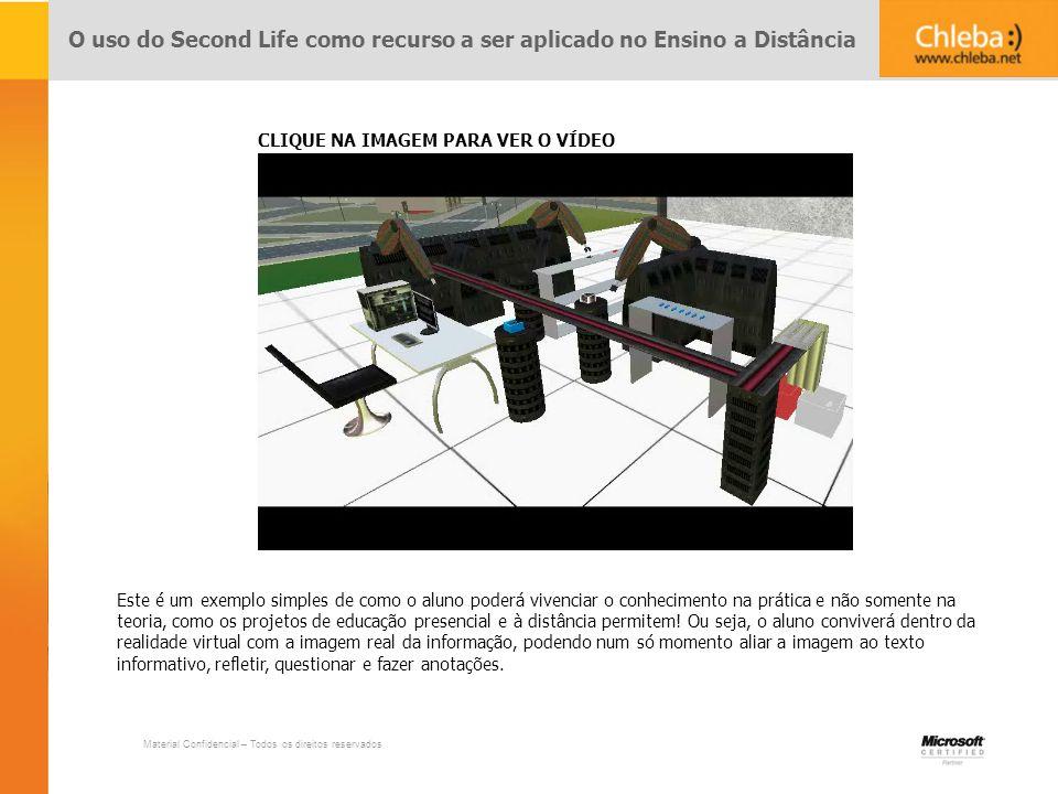 O uso do Second Life como recurso a ser aplicado no Ensino a Distância