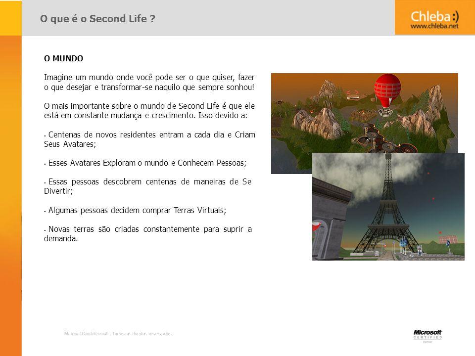 O que é o Second Life O MUNDO