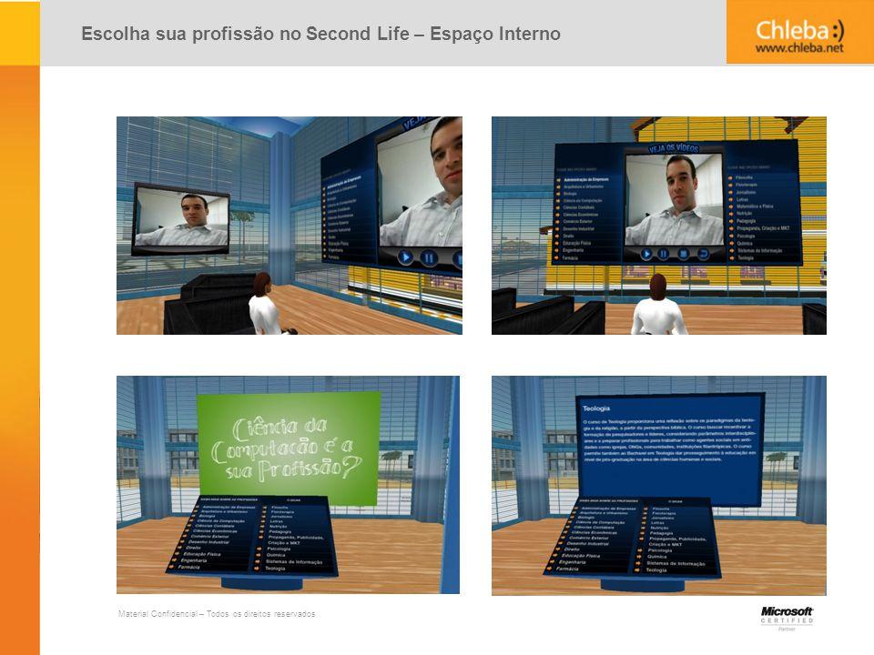 Escolha sua profissão no Second Life – Espaço Interno