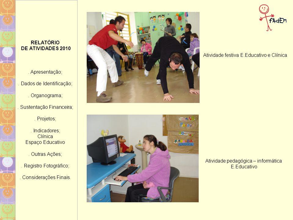 Atividade festiva E.Educativo e Clínica