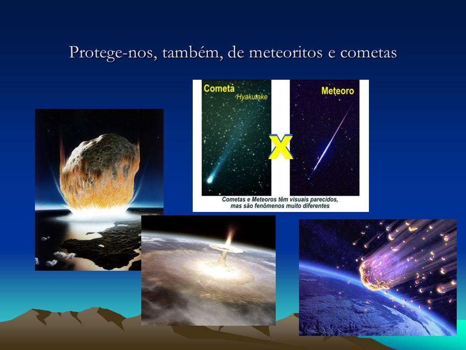 Protege-nos, também, de meteoritos e cometas
