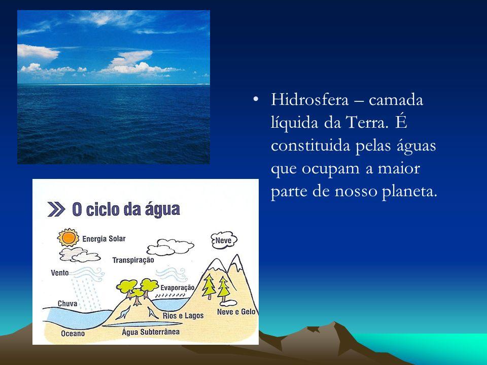 Hidrosfera – camada líquida da Terra