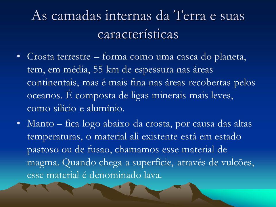 As camadas internas da Terra e suas características