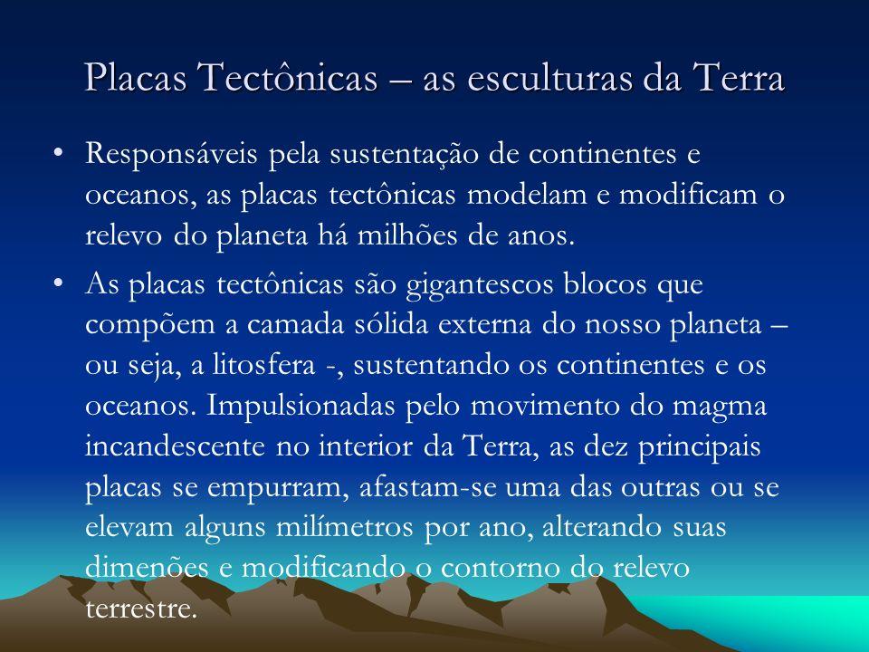 Placas Tectônicas – as esculturas da Terra